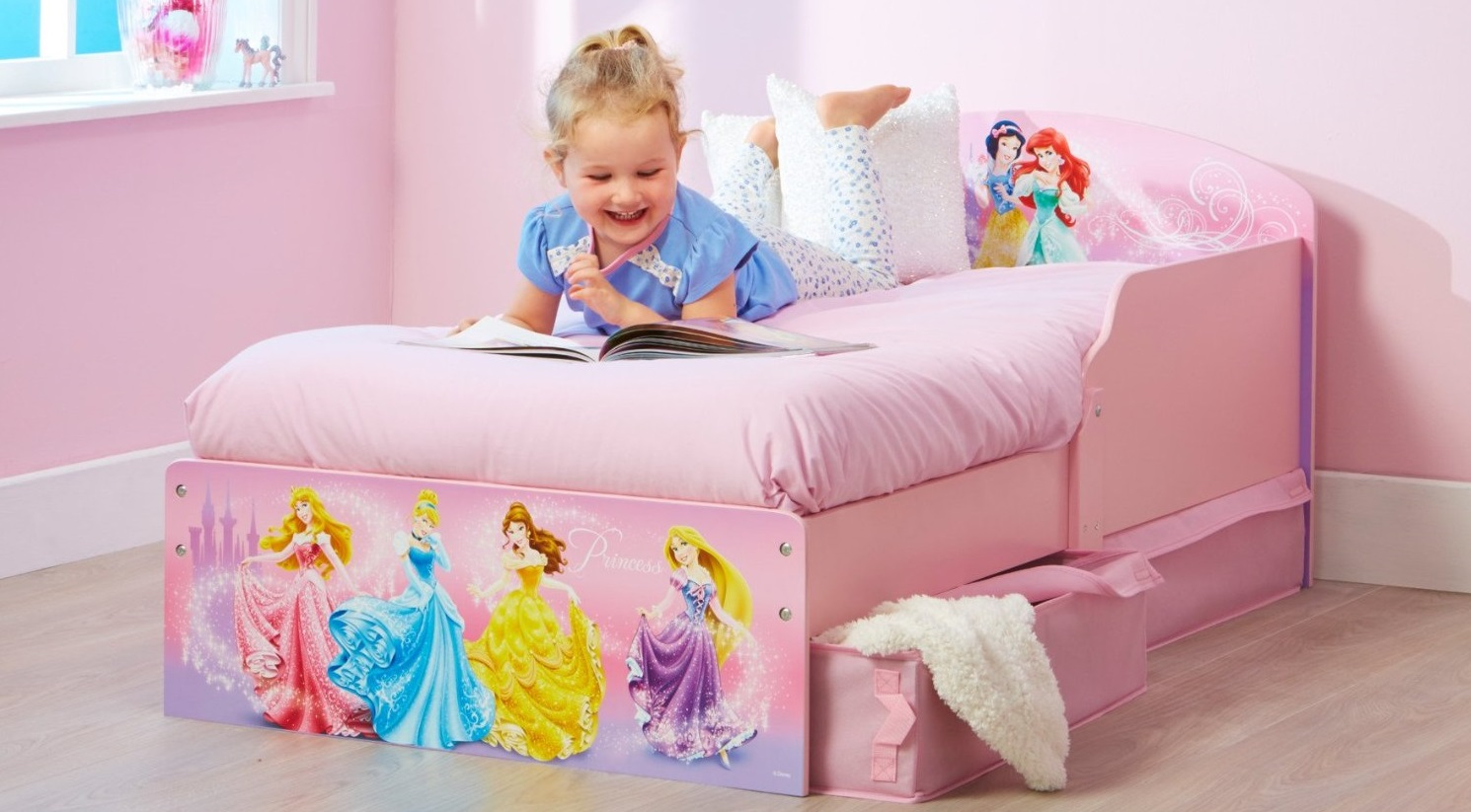Cama de princesas para ni a camas para ni as cama for Muebles disney
