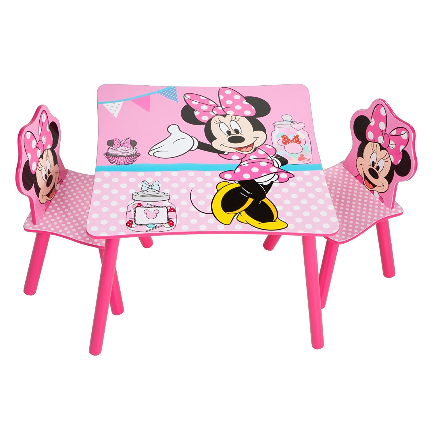 Mesas y sillas para ni as minnie mouse mesas for Muebles disney