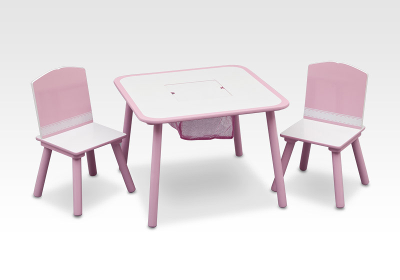 mesa y sillas infantiles color rosa mesas para ni as